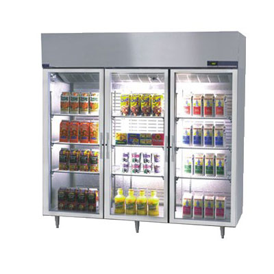 "Norlake NR803SSG/0 82.5"" Three Section Reach-In Refrigerator, (3) Glass Doors, 115v"