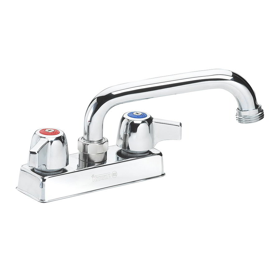 "Krowne 11-450L Deck Mount Laundry Faucet - 6"" Swing Spout, 4"" Centers, Low Lead"