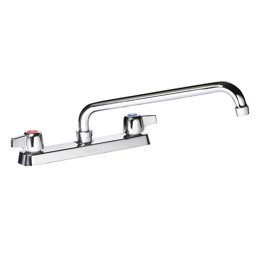"Krowne 13-806L Deck Mount Faucet - 6"" Swing Spout, 8"" Centers, Low Lead"