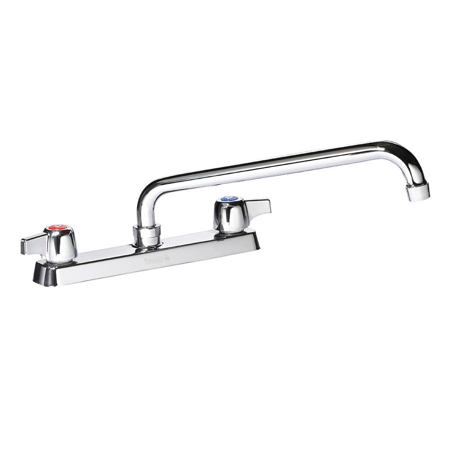 "Krowne 13-808L Deck Mount Faucet - 8"" Swing Spout, 8"" Centers, Low Lead"