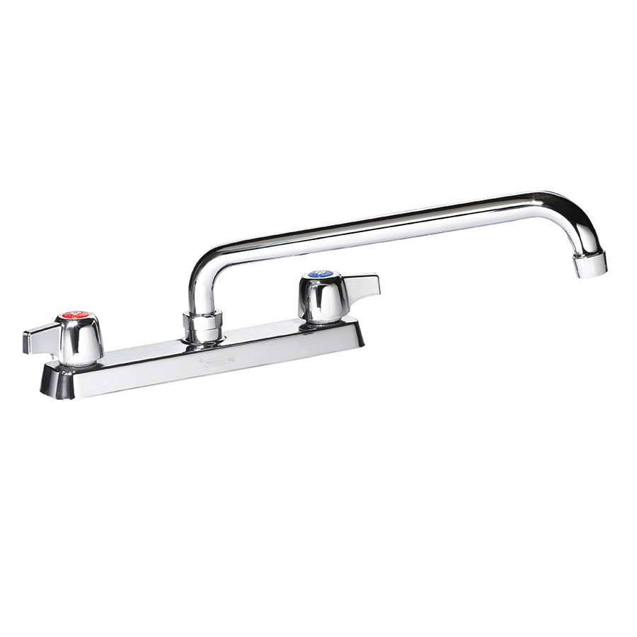 "Krowne 13-816L Deck Mount Faucet - 16"" Swing Spout, 8"" Centers, Low Lead"