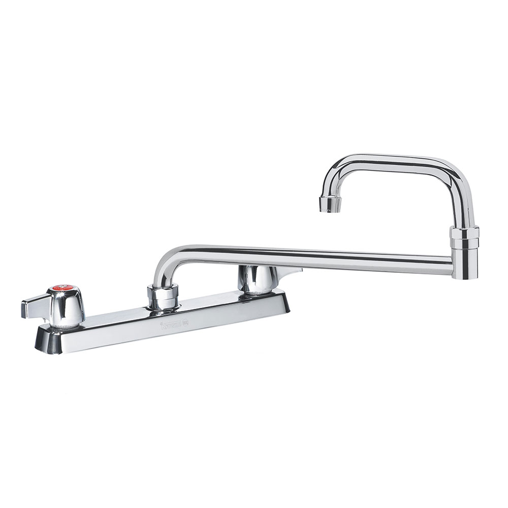 "Krowne 13-818L Deck Mount Faucet - 18"" Jointed Spout, 8"" Centers, Low Lead"