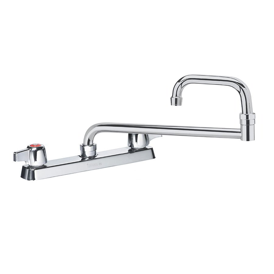"Krowne 13-824L Deck Mount Faucet - 24"" Jointed Spout, 8"" Centers, Low Lead"