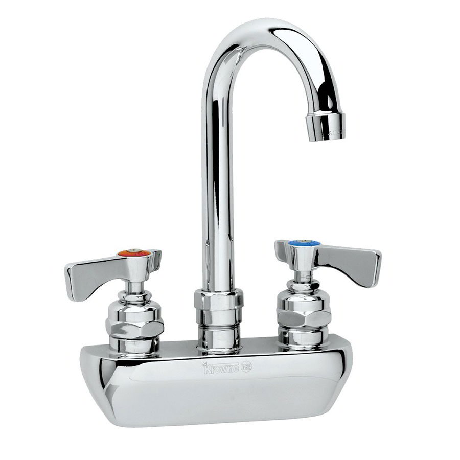 "Krowne 14-401L Low Lead Royal Series Faucet, 4"" Centers, Gooseneck, 6"" Long"