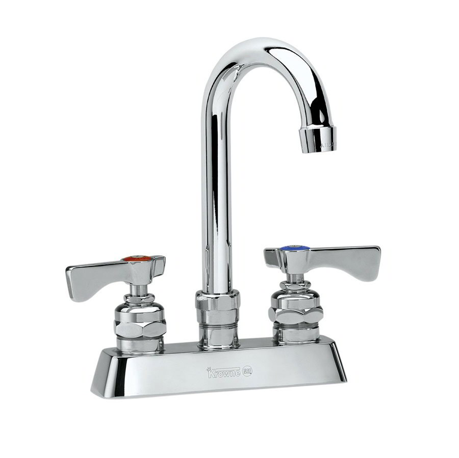 Krowne 15-302L Low Lead Royal Series Deck Mount Faucet, 8-1/2-in W, 4-in Center