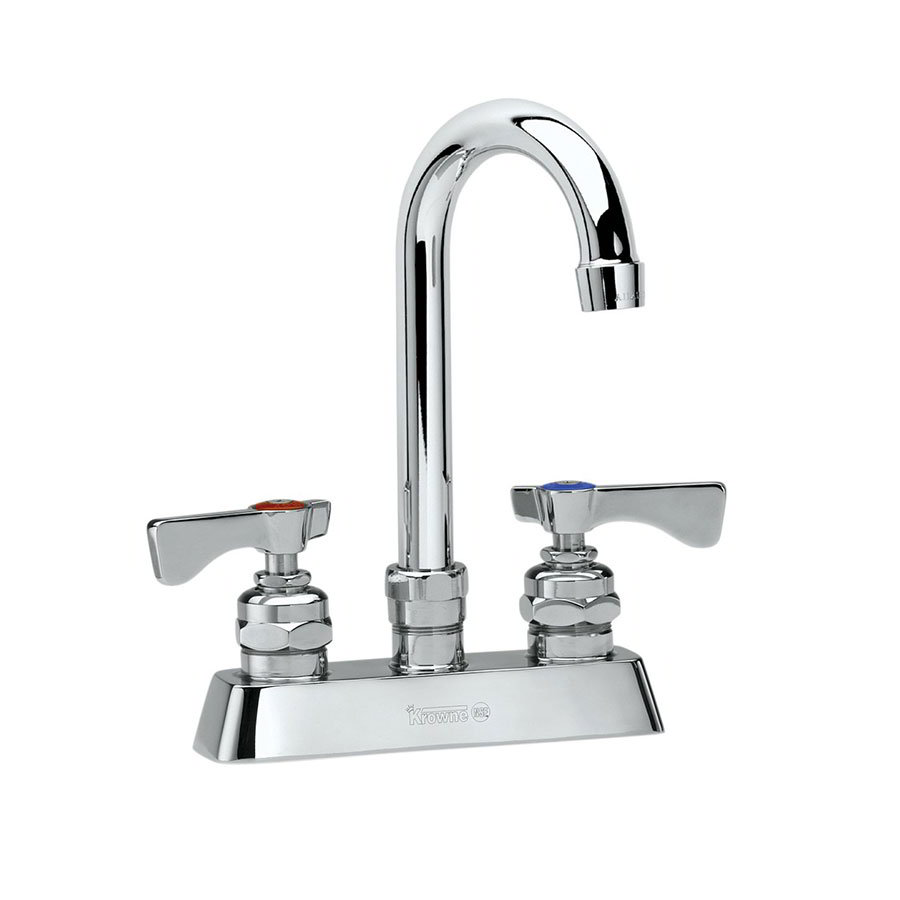 "Krowne 15-310L Low Lead Royal Series Faucet, Deck Mount, 10"" Long,4"" Center"