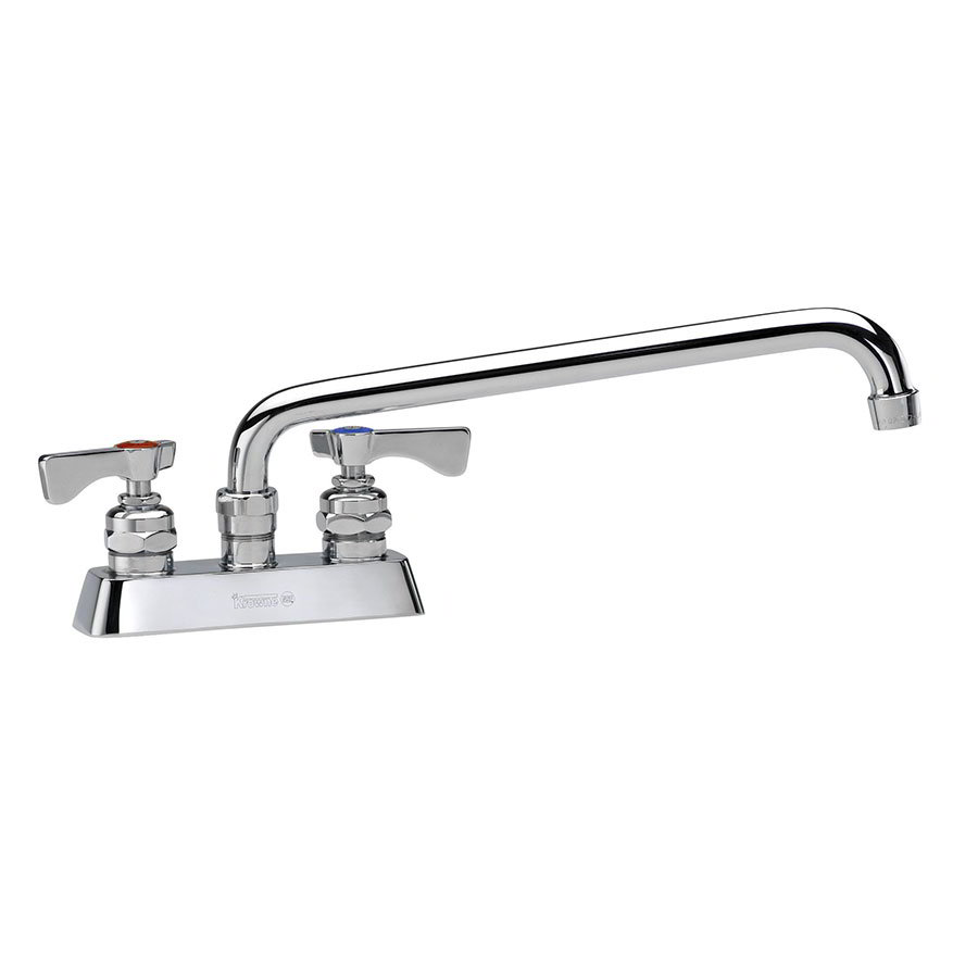 "Krowne 15-312L Low Lead Royal Series Faucet, 4"" Centers, 12"" L, Swing Nozzle"