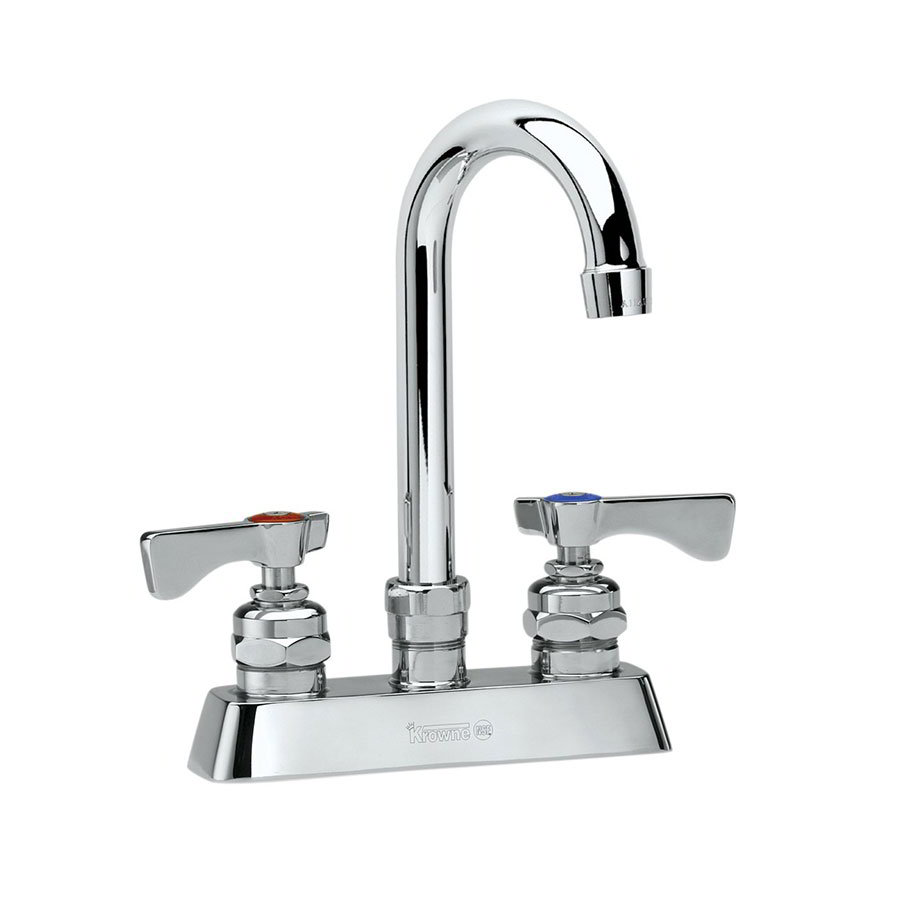 Krowne 15-325L Low Lead Royal Series Faucet, Deck Mount, Gooseneck