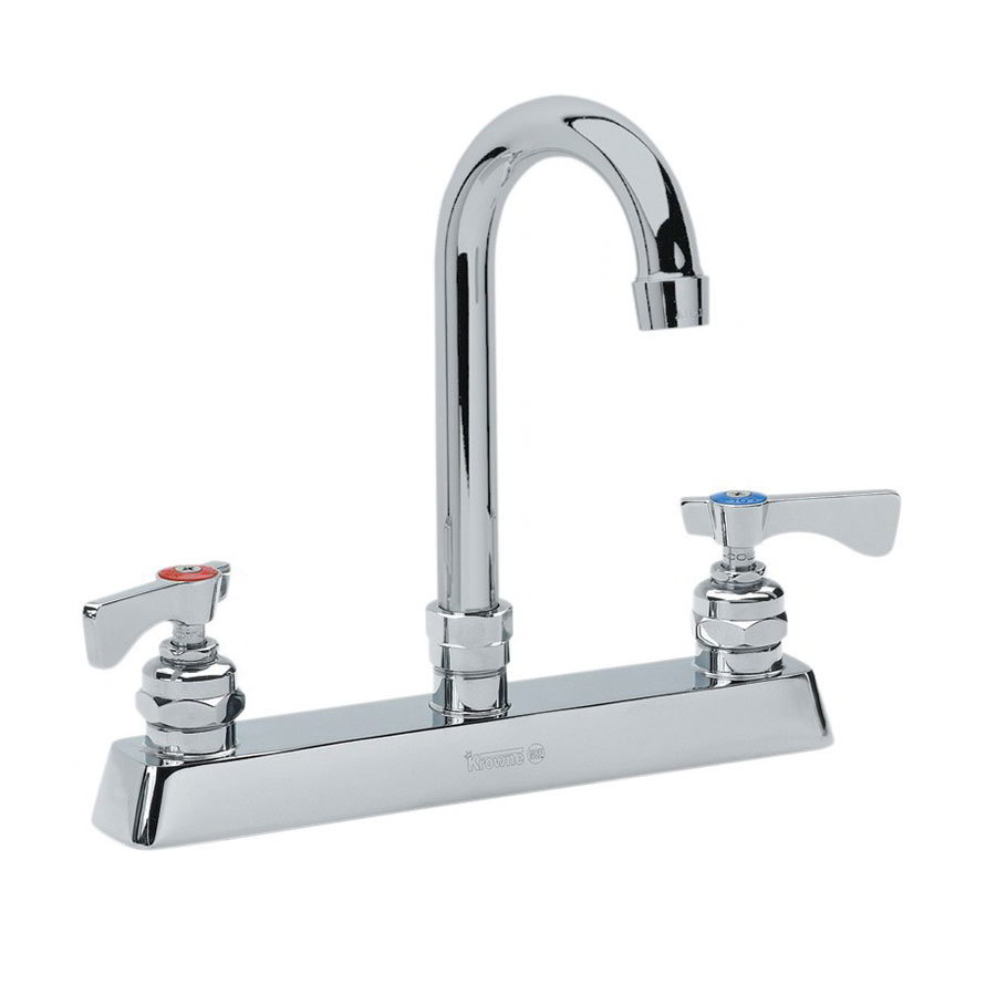 "Krowne 15-501L Low Lead Royal Series Faucet, Deck Mount, 5"" Wide, 8"" Centers"