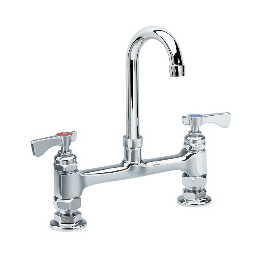 "Krowne 15-801L Low Lead Royal Series Faucet, 6"" Wide Gooseneck, Mount Kit"