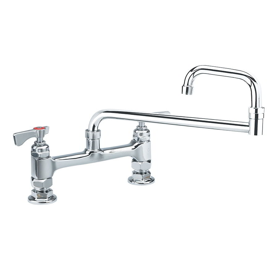 "Krowne 15-818L Low Lead Royal Series Faucet, 18"" Long, Deck Mount, 8"" Centers"