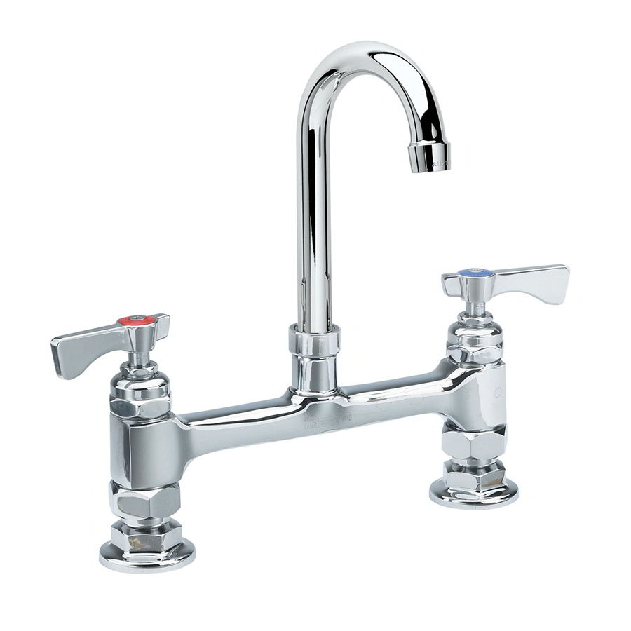 "Krowne 15-825L Low Lead Royal Series Deck Mount Faucet, 3-1/2"" W & 8"" Center"