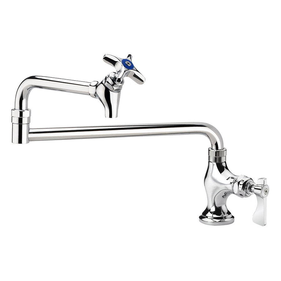 "Krowne 16-163L Deck Mounted Royal Series Pot Filler Faucet, 24"" Spout, Low Lead"