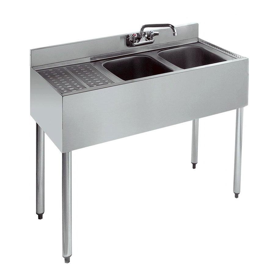 """Krowne 18-32R 36"""" 2-Compartment Sink w/ 10""""W x 14""""L Bowl, 10"""" Deep"""