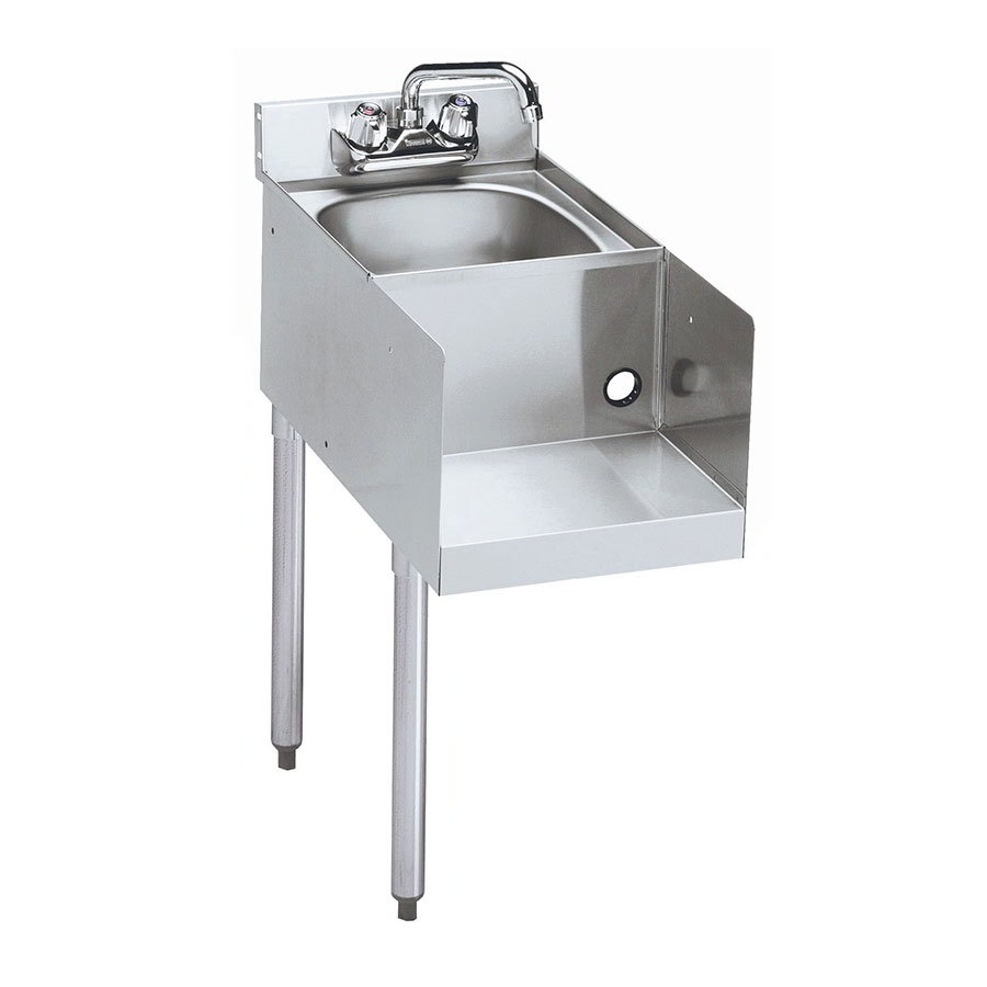 "Krowne 21-12BDL Blender Dump Sink Add-On - Deck Mount, 12x25"", Left Legs"