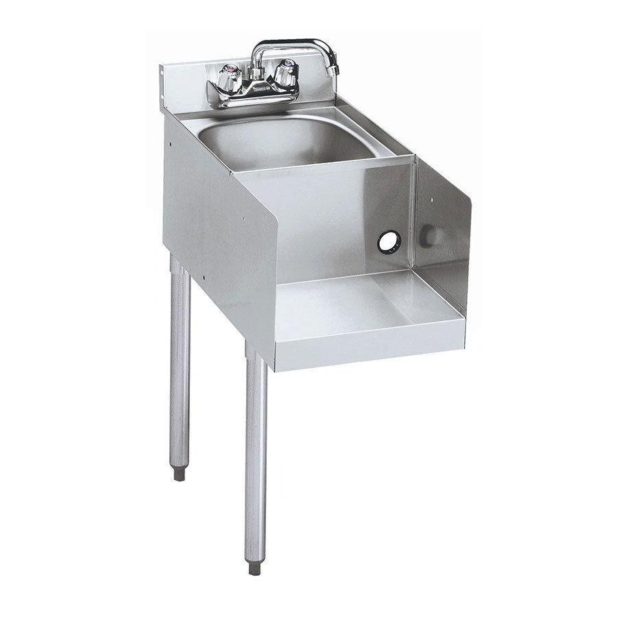 "Krowne 21-12BDL Blender Dump Sink Add-On - Deck Mount, 12x25"", Left Legs"