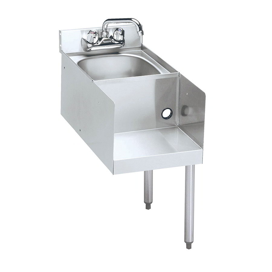 "Krowne 21-12BDR Blender Dump Sink Add-On - Deck Mount, 12x25"", Right Legs"