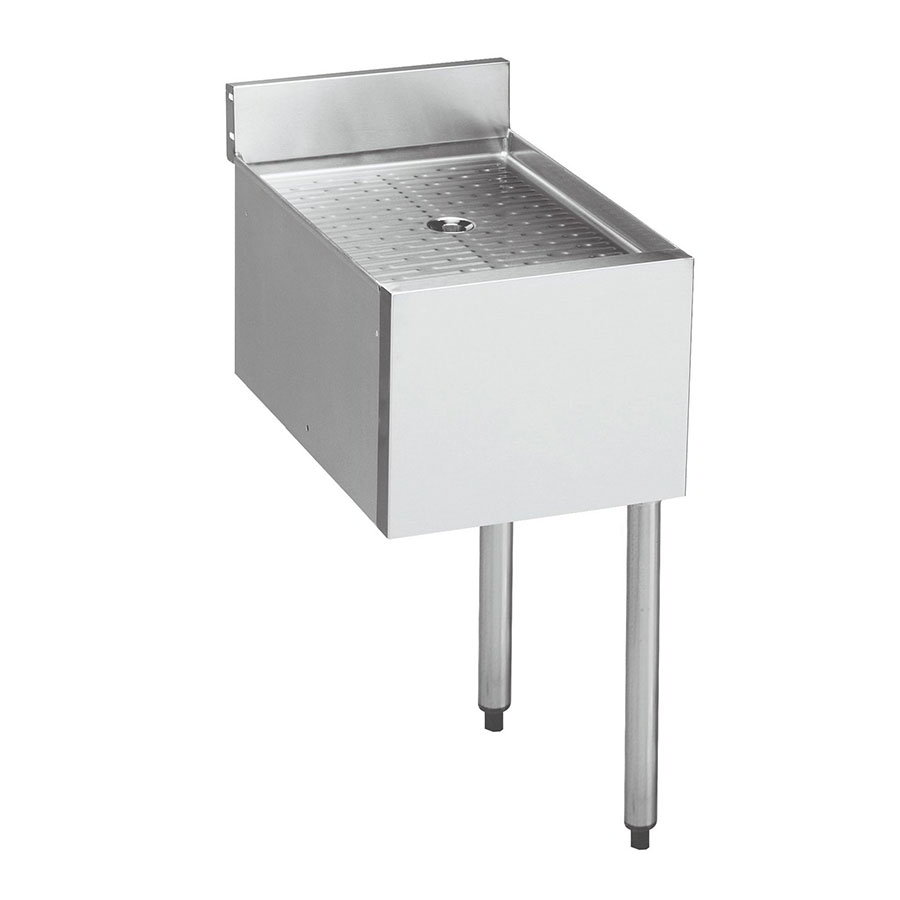 "Krowne 21-12DST Under Bar Sink - 10x12x7"" Bowl, Deck Mount, Soap/Towel Dispenser, 12x26"