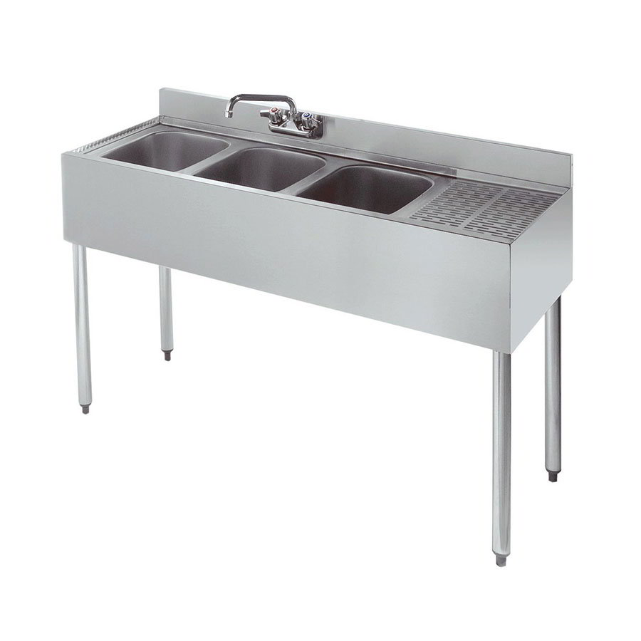 "Krowne 21-43L 48"" 2-Compartment Sink w/ 10""W x 14""L Bowl, 10"" Deep"