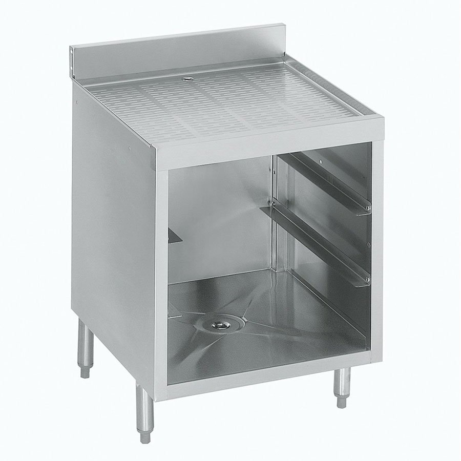 "Krowne 21-GSB1 Under Bar Glass Storage Cabinet - 3-Racks, 5"" Back Splash, 24x26"