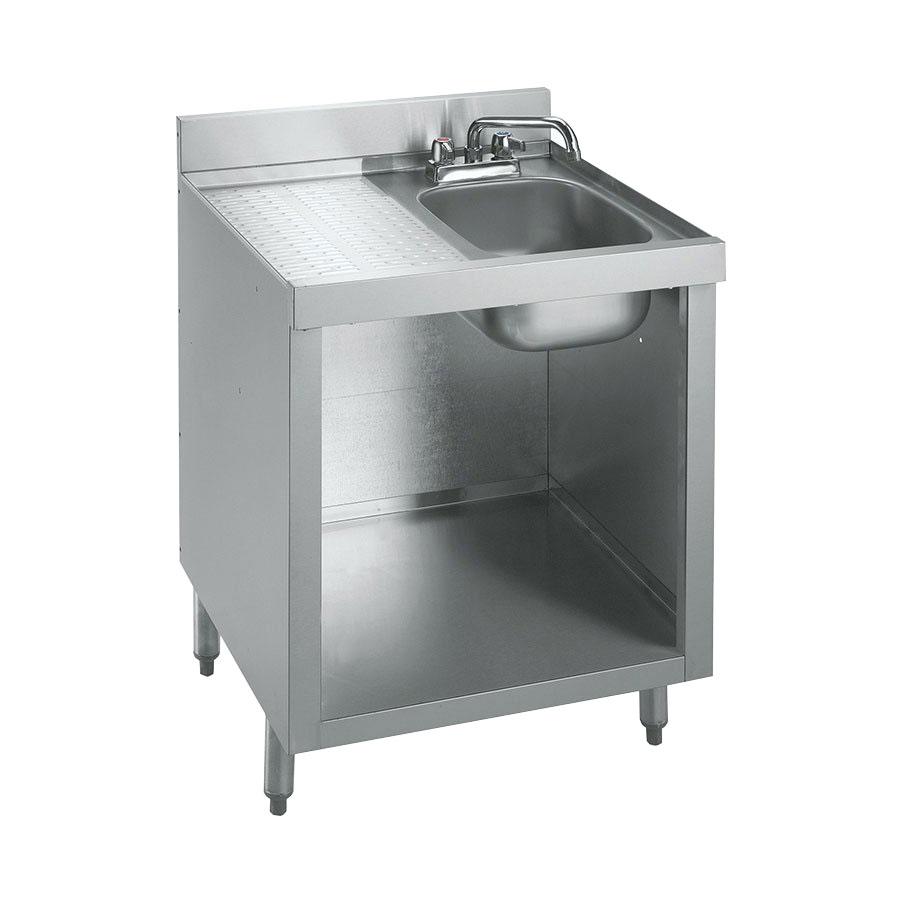"Krowne 21-GW2 Under Bar Glass Storage Cabinet - 10x14"" Bowl, 5"" Back Splash, 24x26"