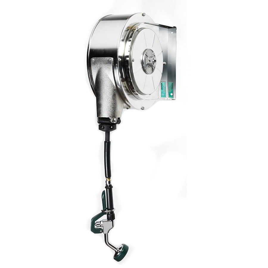 Krowne 24-600 35-ft Enclosed Stainless Hose Reel Assembly, Mounts To Ceiling