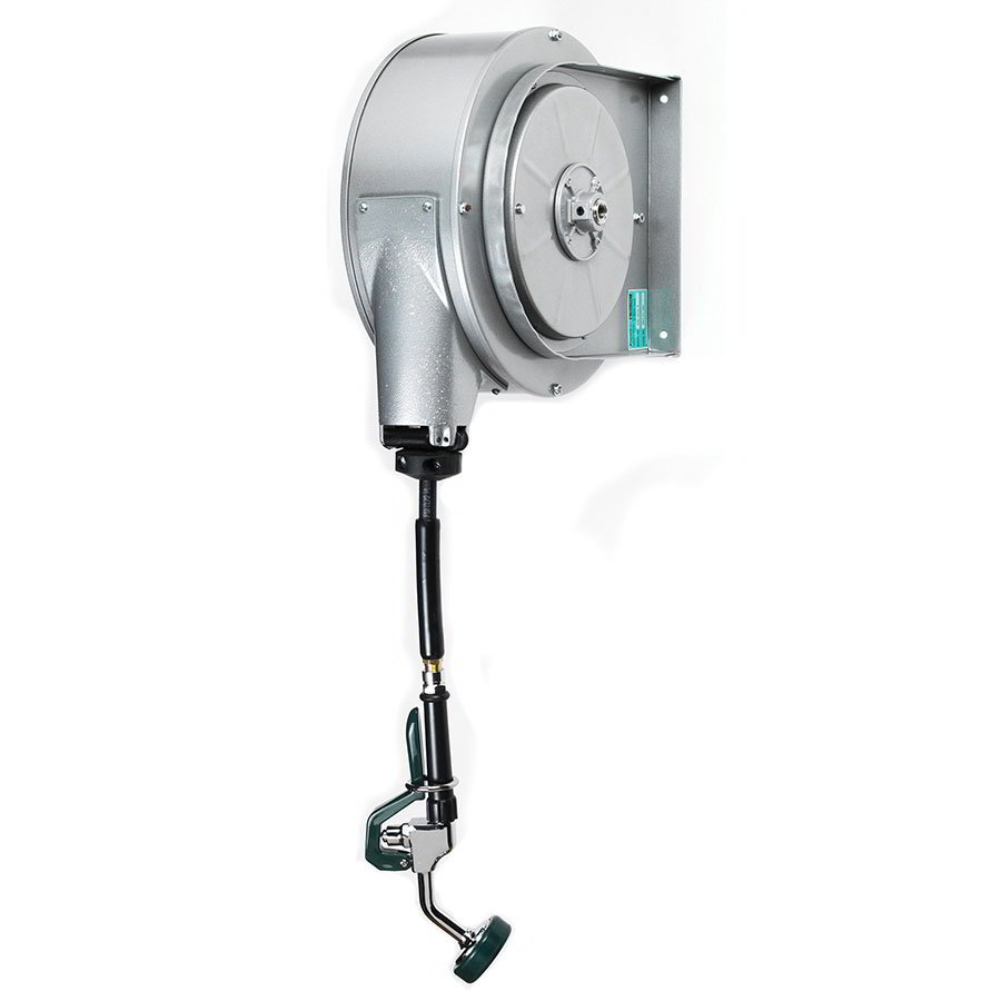 Krowne 24-601 35-ft Enclosed Powder Coated Hose Reel Assembly, Mounts To Ceiling
