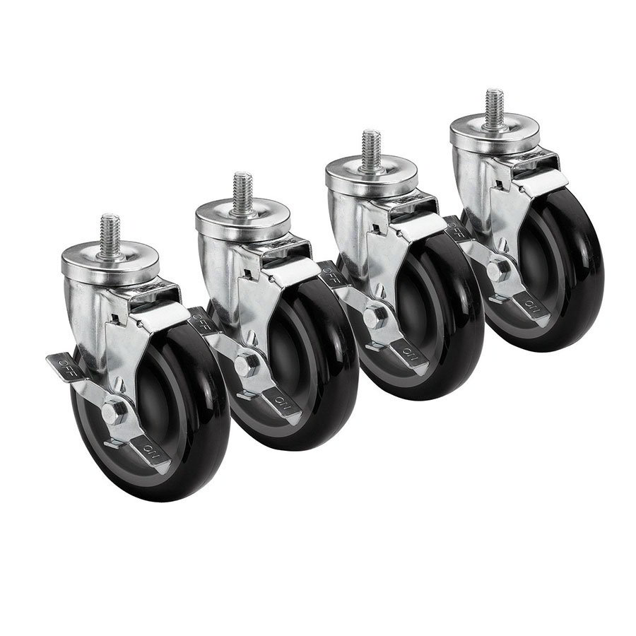 Krowne 28-141S Universal Threaded Stem Caster Set, 0.5 x 13""
