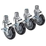 Krowne 28-151S Universal Shelving Caster Set w/ 5-in Wheels