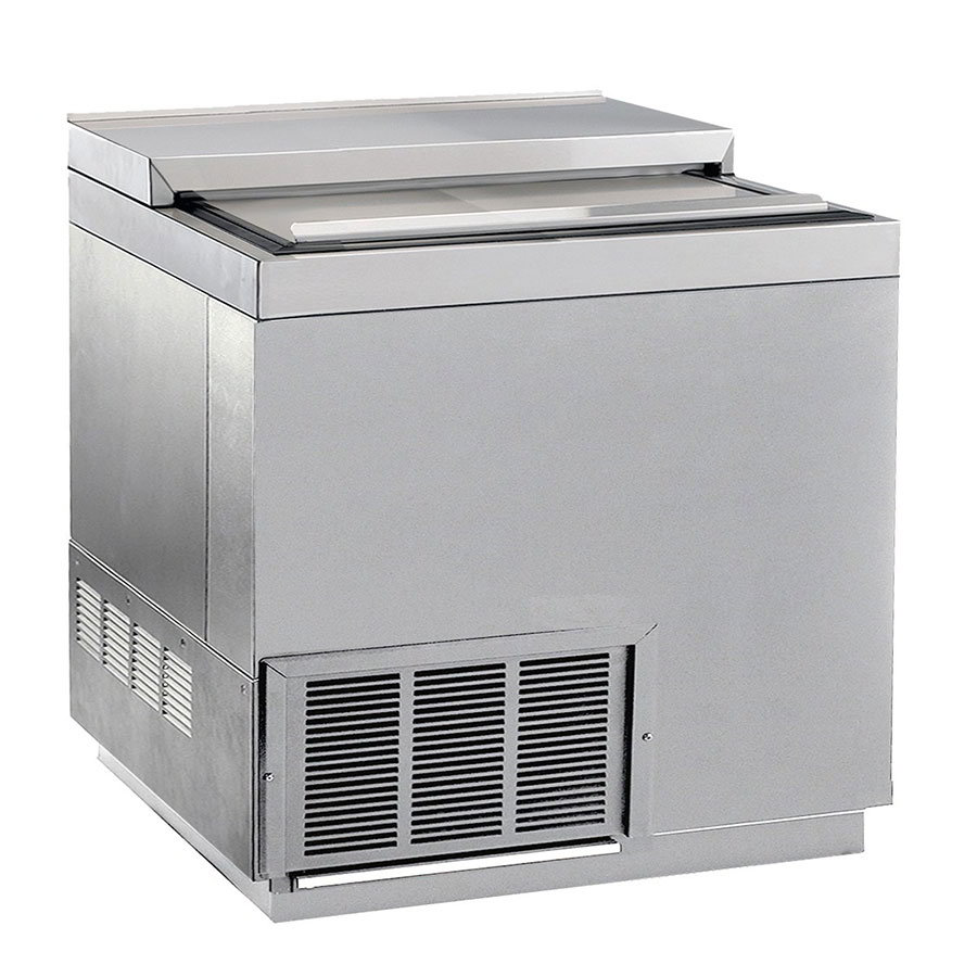 "Krowne BC36-SS 36"" Forced Air 192-Capacity Bottle Cooler - Stainless Interior, 115v"