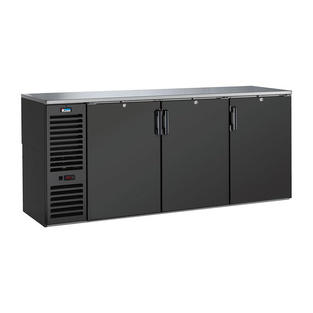 """Krowne BS84L 84"""" (3) Section Bar Refrigerator - Swinging Solid Doors, 115v"""