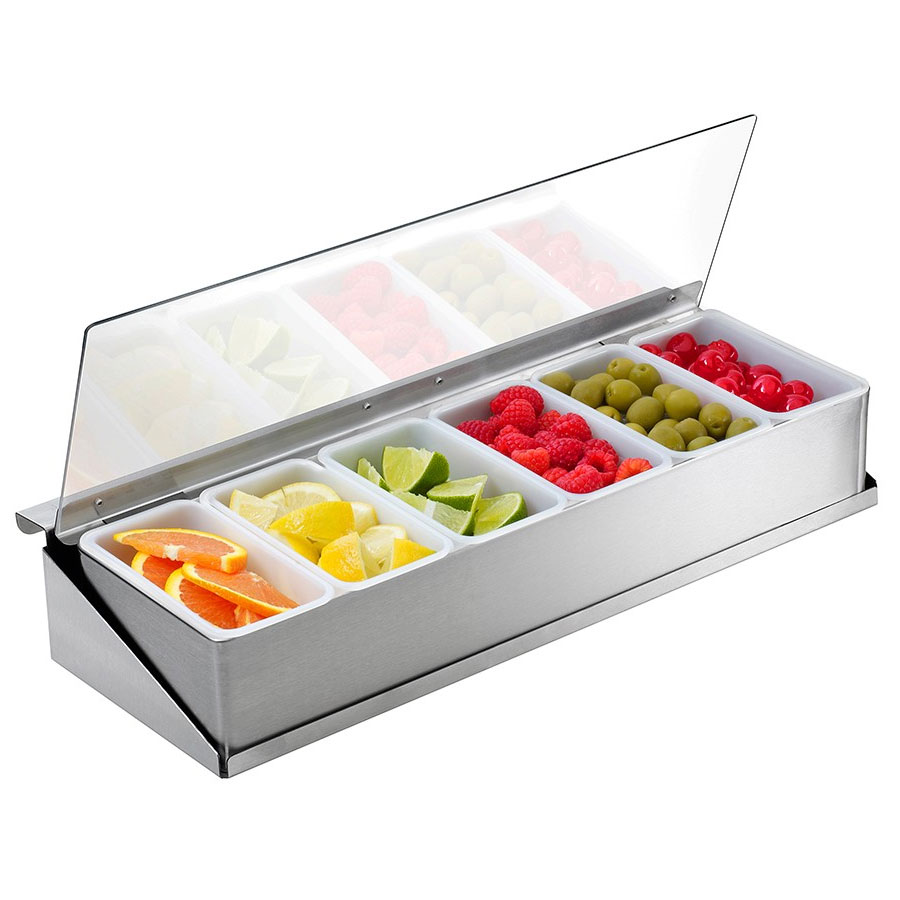 Krowne C-65 Standard Series Condiment Tray For Pass-Thru Ice Bins, Stainless