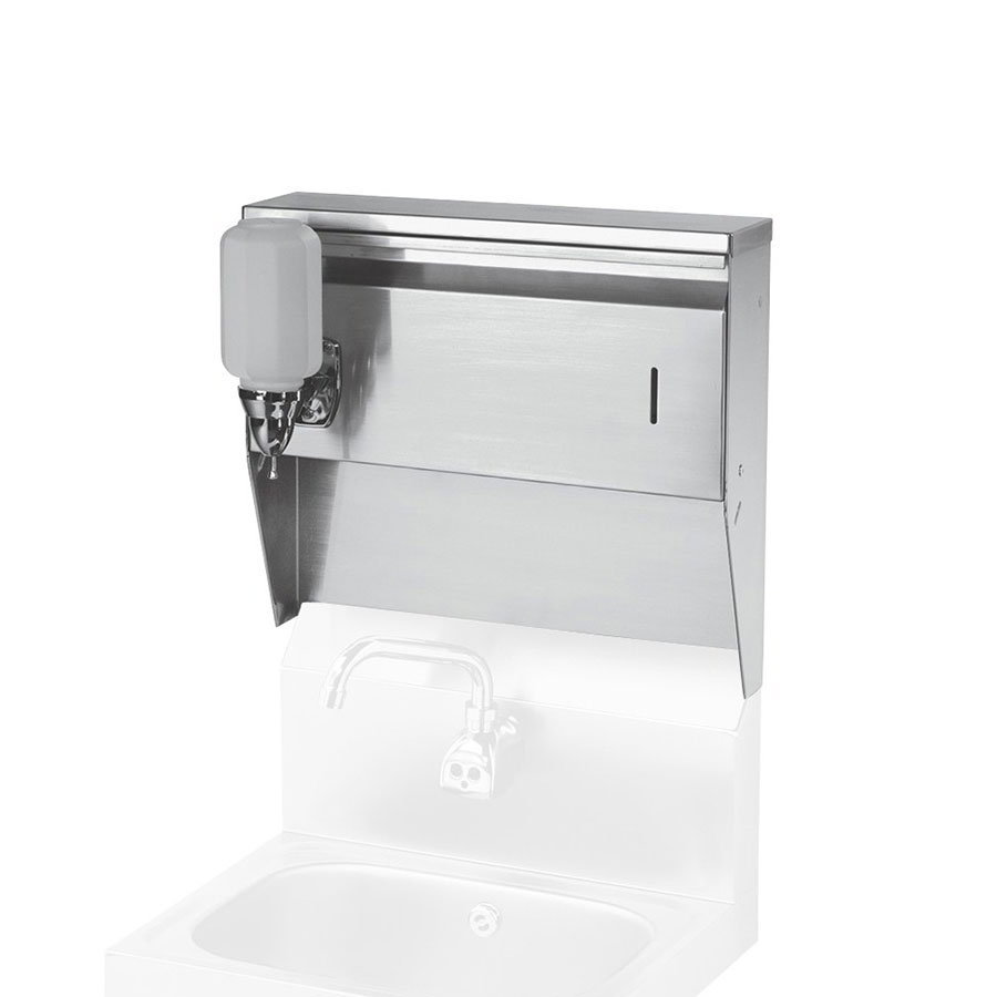 Krowne H-111 Towel & Soap Dispenser For Wall Mount Hand Sinks