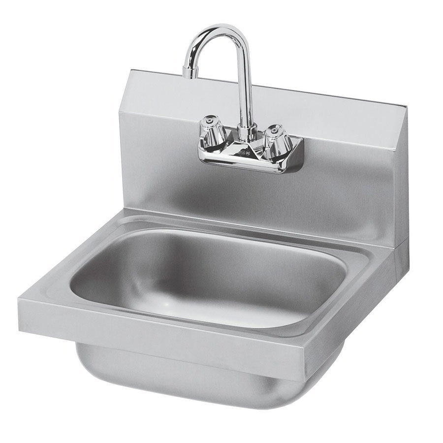 "Krowne HS-2L Wall Mount Commercial Hand Sink w/ 12.5""L x 9.75""W x 5.87""D Bowl, Low Lead"