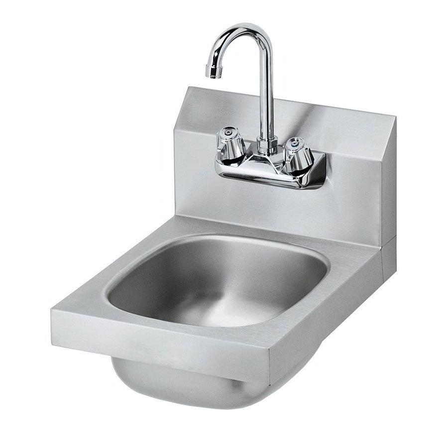 "Krowne HS-9L Wall Mount Commercial Hand Sink w/ 9.75""L x 11.75""W x 5""D Bowl, Low Lead"