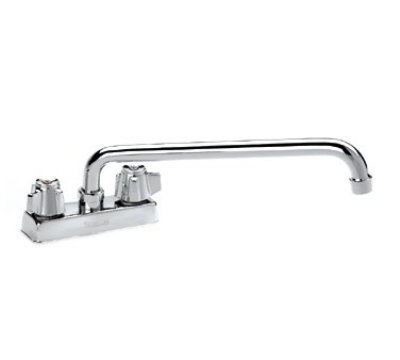 "Krowne 11-412L Deck Mount Faucet - 12"" Swing Spout, 4"" Centers, Low Lead"