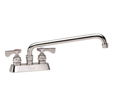 Krowne 15-312L Low Lead Royal Series Faucet, 4-in Centers, 12-in L, Swing Nozzle