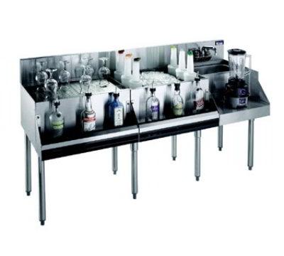 """Krowne KR21-W72A-10 Ice Bin/Blender Unit w/ 18"""" Drainboard- 97-lb Capacity, Sink, 72x26"""", Cold Plate"""
