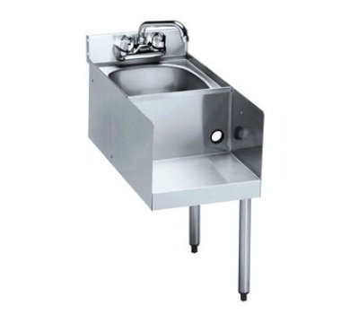 "Krowne 21-18BDR Blender/Liquid Dump Sink Add-On - 5"" Back Splash, Splash Mount, 18x25"", Right Legs"