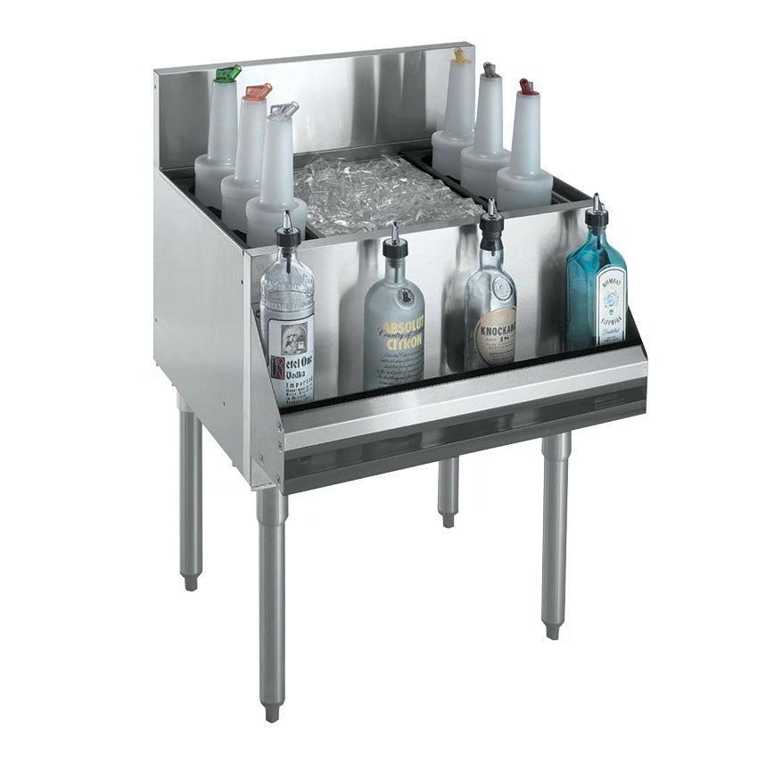 "Krowne KR18-30-10 Ice Bin - 97-lb Capacity, Bottle Racks, 7"" Back Splash, 30x19"", Cold Plate"