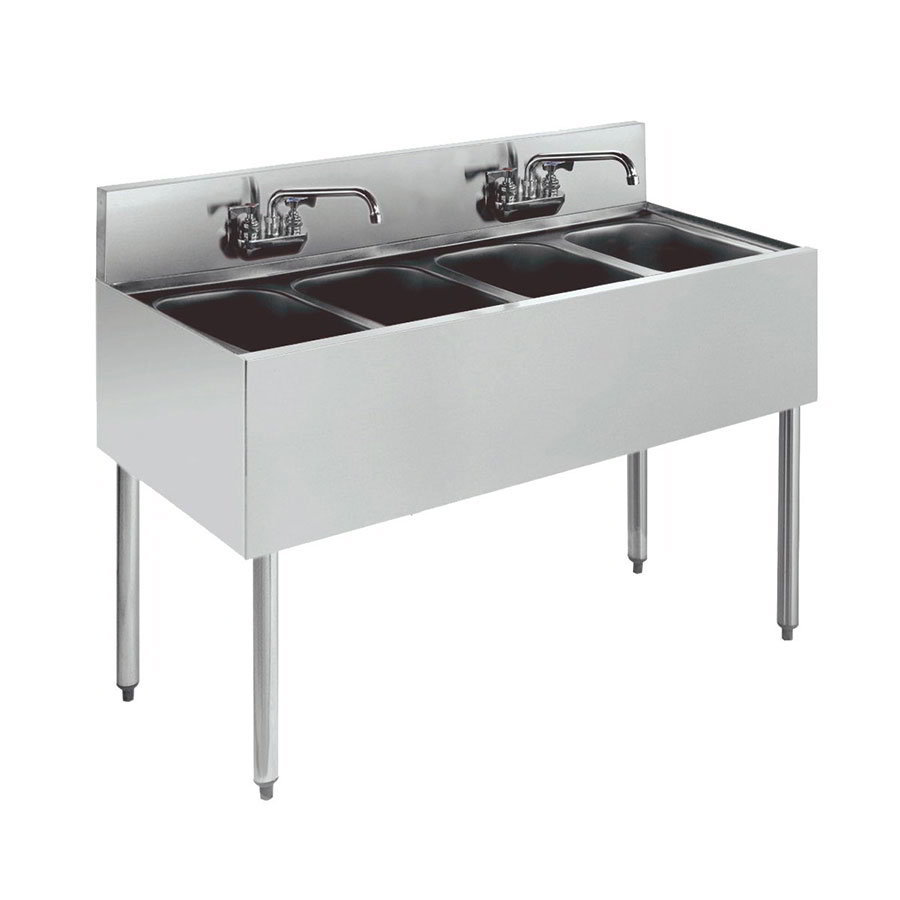 "Krowne KR18-44C Under Bar Sink - (4) 10x14x10"" Bowls, 48x19"