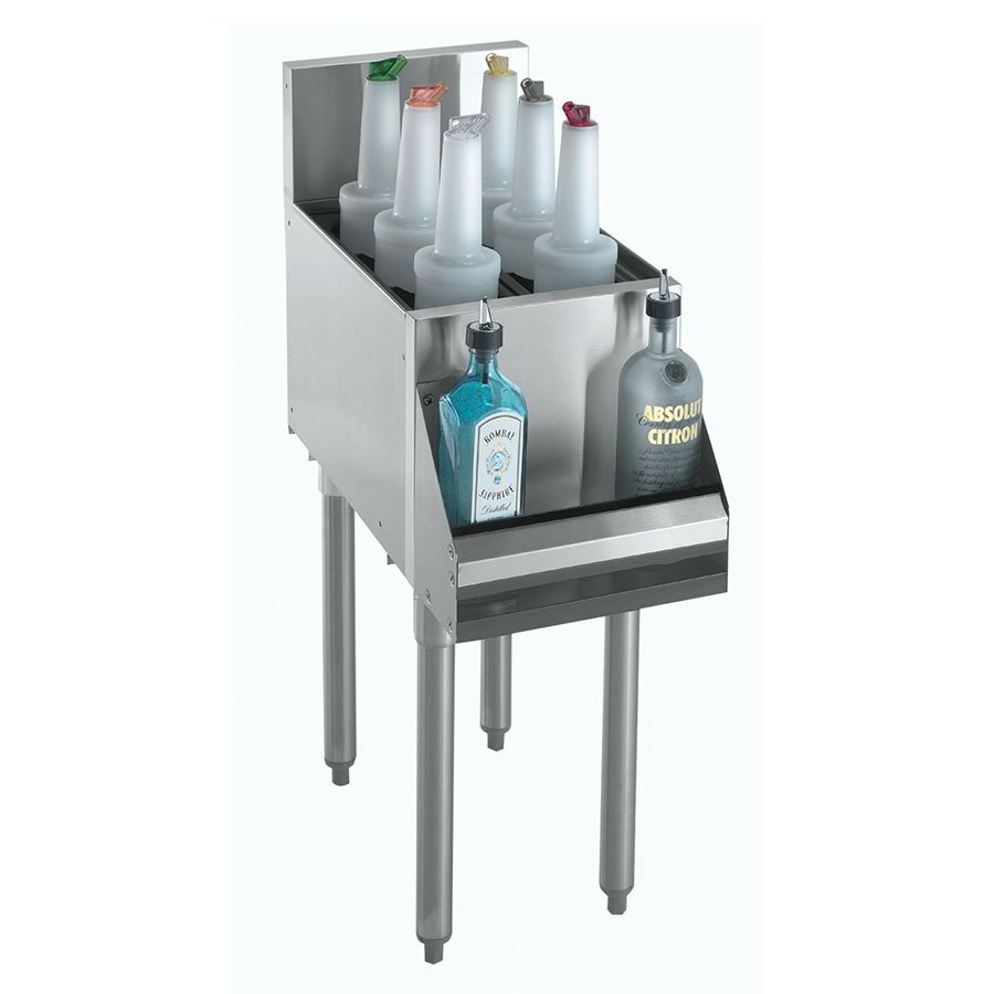 "Krowne KR18-6 Bottle Section - Holds 3-Bottles, 7"" Back Splash, 6x19"