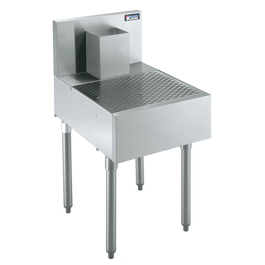 Krowne KR21-BD18 Under Bar Beer Drainer - Lift-Out Perforated Top, 18x26