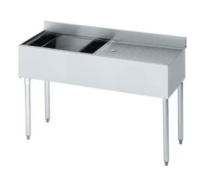 Krowne 18-D48L Left Ice Bin/Right Drainboard Unit - 80-lb Capacity, 48x18.5