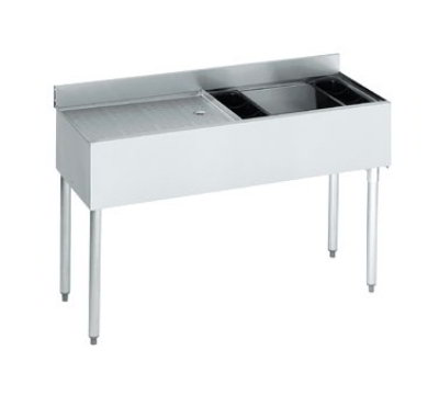 "Krowne 21-D48R-7 Right Ice Bin/Left Drainboard Unit - 80-lb Capacity, 48x21"", Cold Plate"
