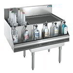 "Krowne KR18-M48R-10 Left Bottle Section/Right Ice Bin - 115-lb Capacity, 48x19"", Cold Plate"