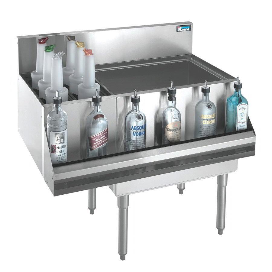Krowne KR18-M48R Left Bottle Section/Right Ice Bin - 115-lb Capacity, 48x19