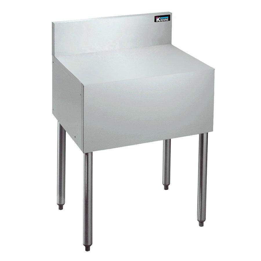 "Krowne KR18-RS24 Flat Top Register/Coffee Stand - 7"" Back Splash, 30""H, 24x19"