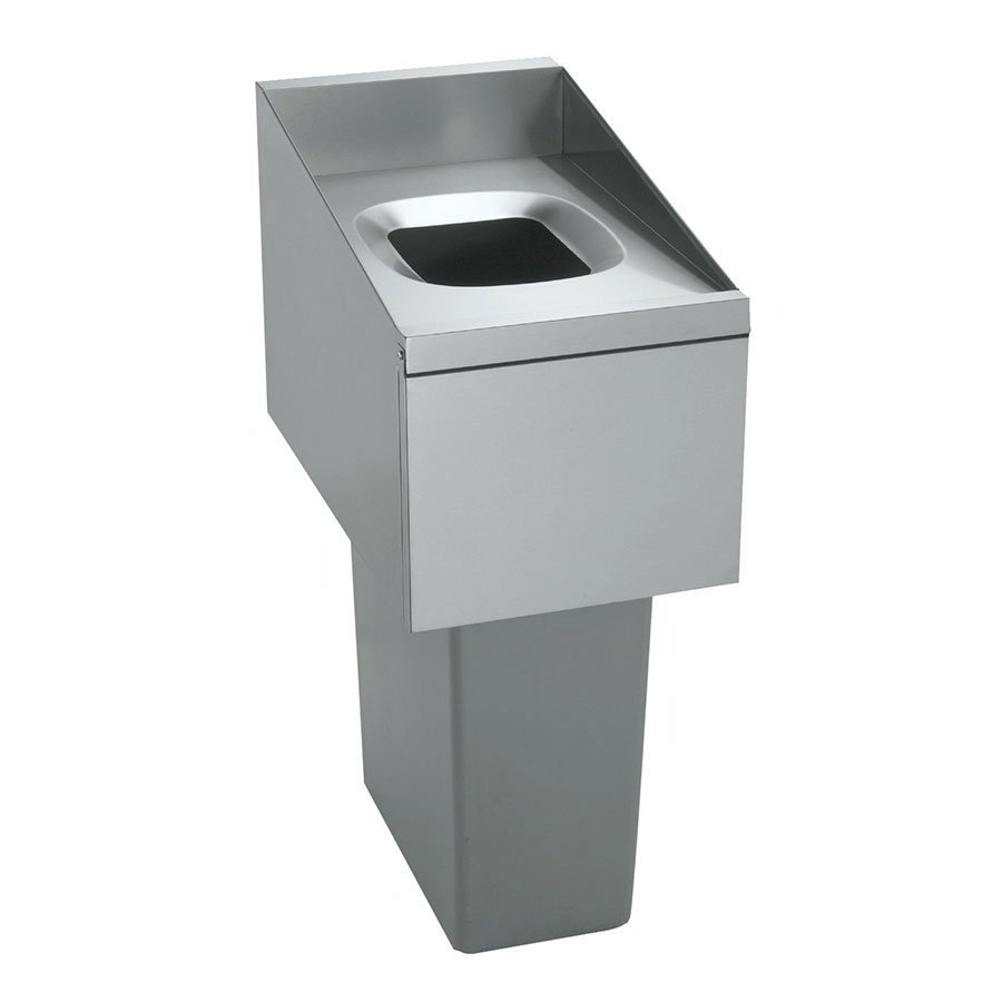 Krowne Metal KR18-T14L Underbar Trash Station w/ Lift Up Door & Left Restaurant Supply