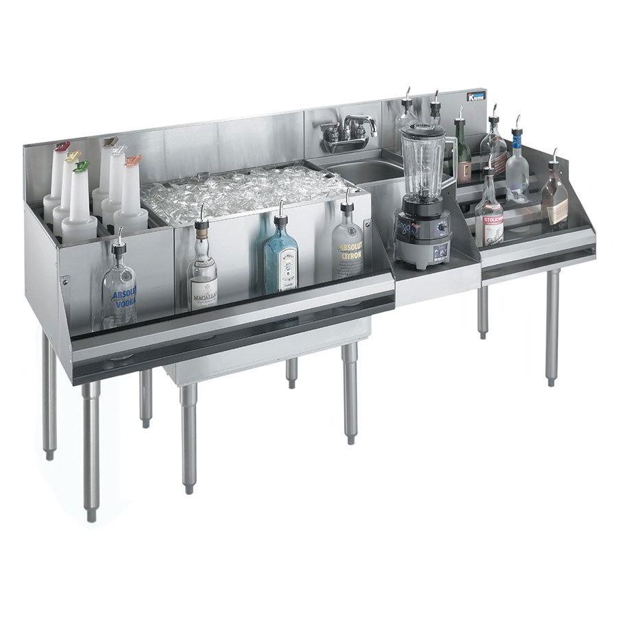Krowne KR18-W66E-10 Cocktail/Blender/Liquor Unit - 80-lb Ice Bin, Dump Sink, 66x24